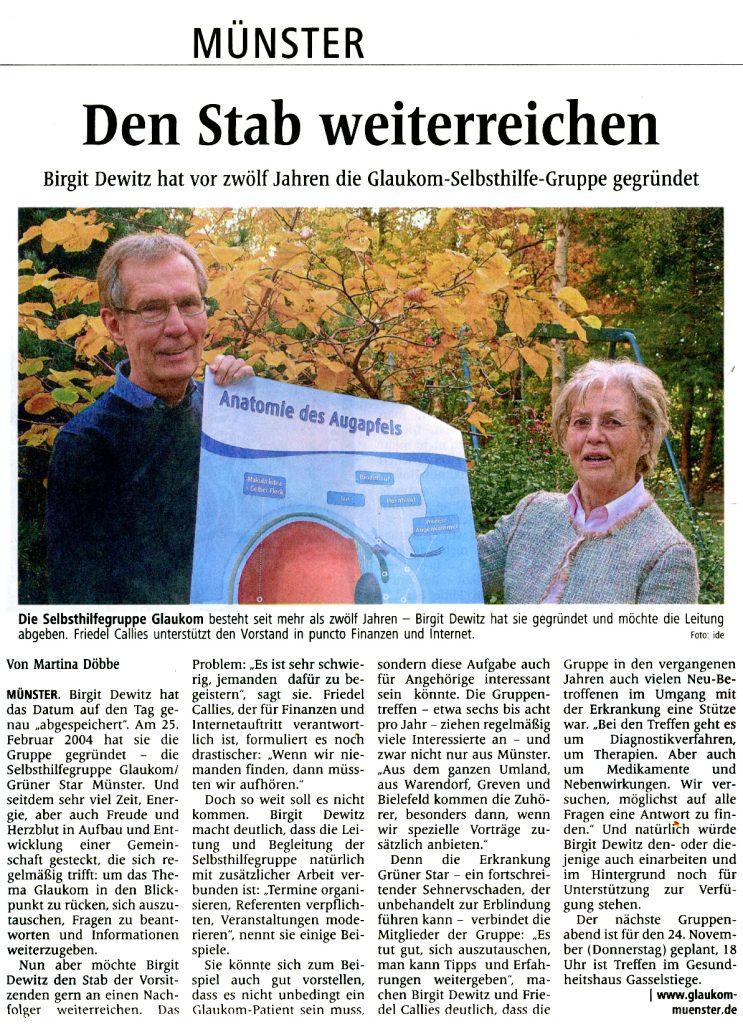 Quelle: Westfälische Nachrichten vom 4. November 2016